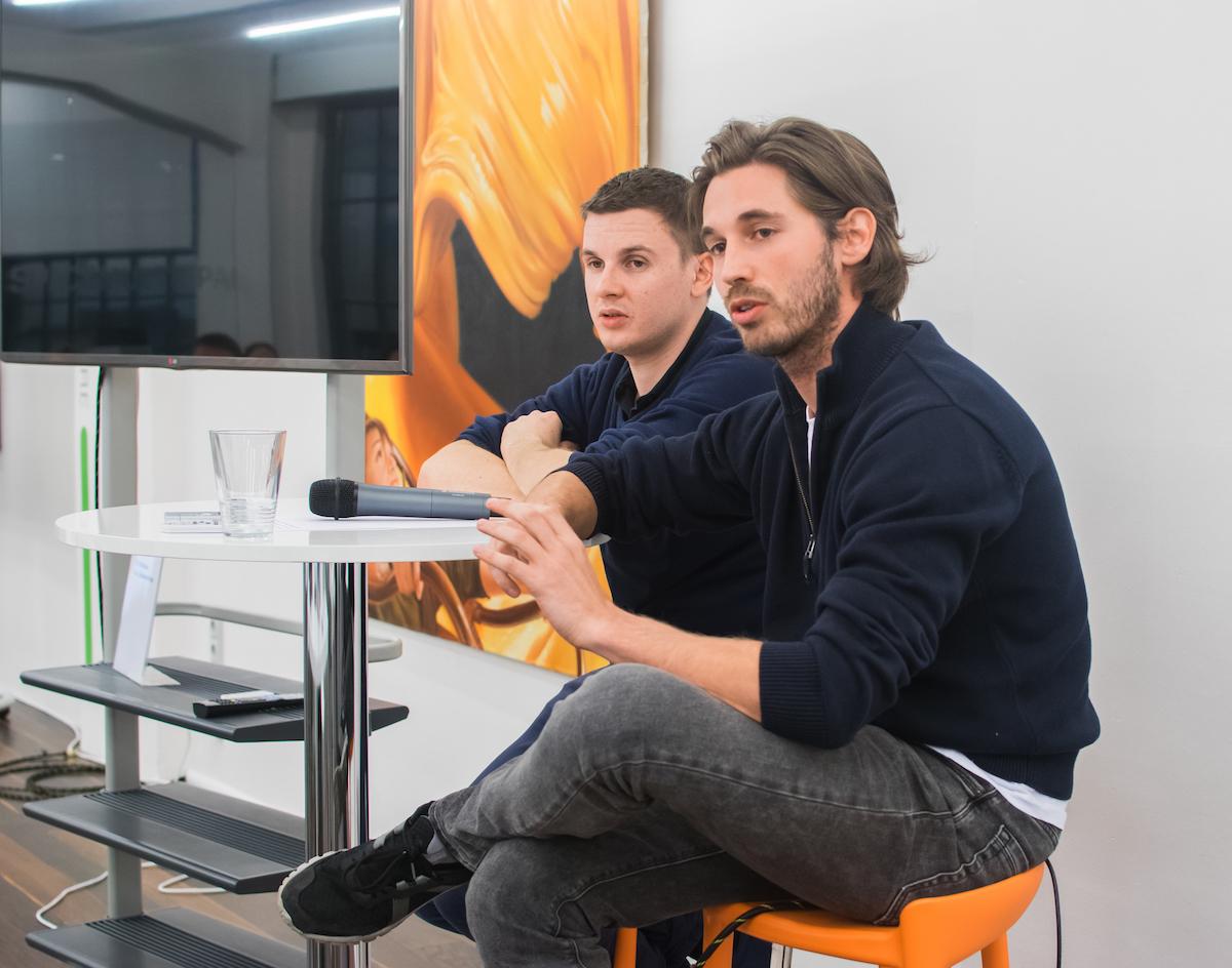 Tomáš Turek, šéf projektu Angee, za ním Lukáš Stibor z Cleevia. Foto: Martina Votrubová
