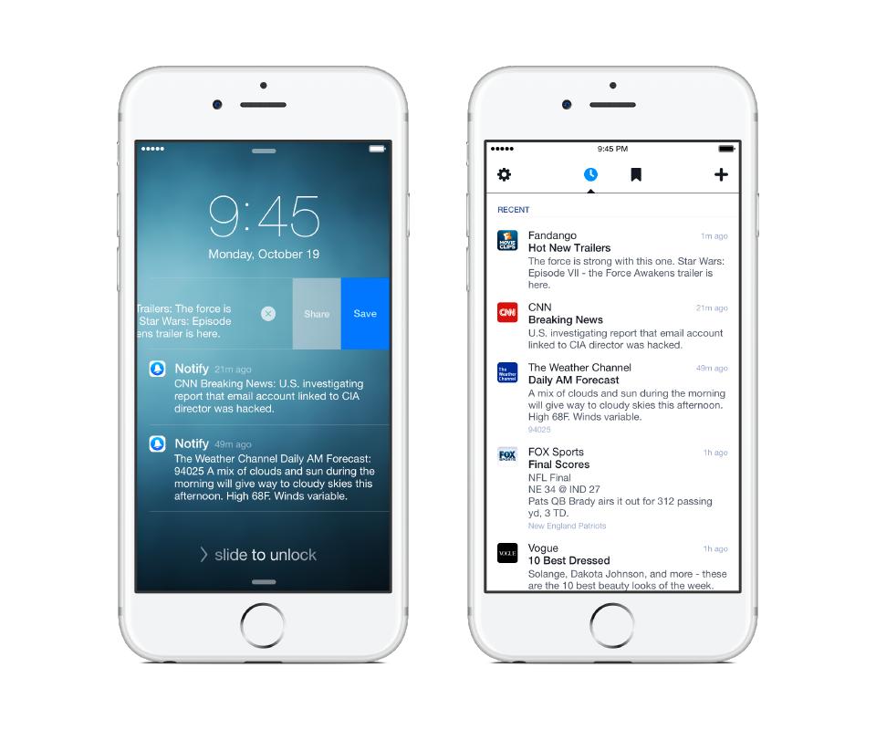 Notify, nová služba Facebooku