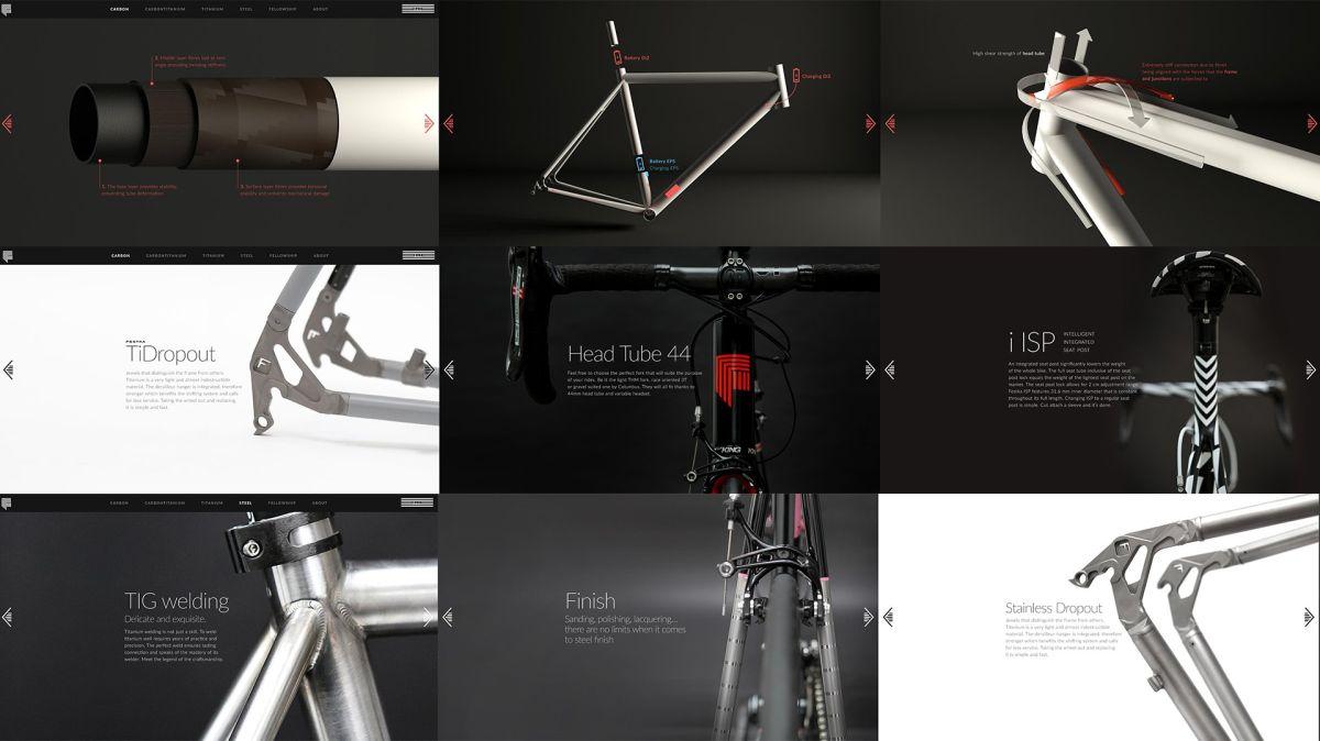 Festka se věnuje návrhům, designu a ruční výrobě jízdních kol na míru