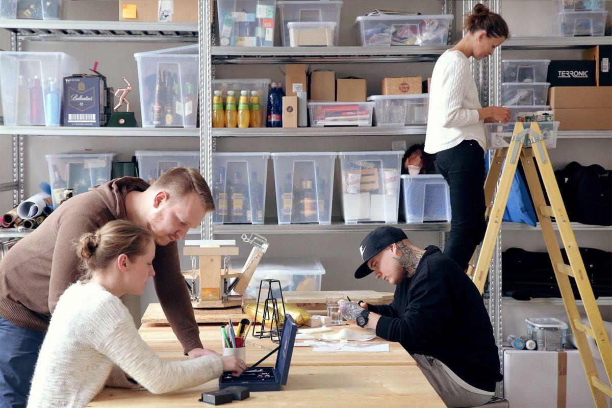 Nový ateliér Bubble, který slouží současně jako sklad materiálů pro ruční práci