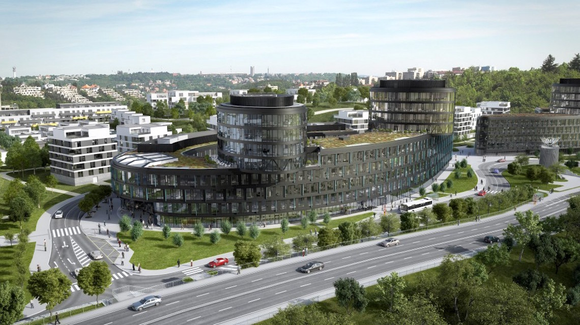 Vltava Labe Media bude sídlit v budově Aviatica komplexu Waltrovka, který Penta buduje nad pražskou Radlickou. Repro: aviatica.cz