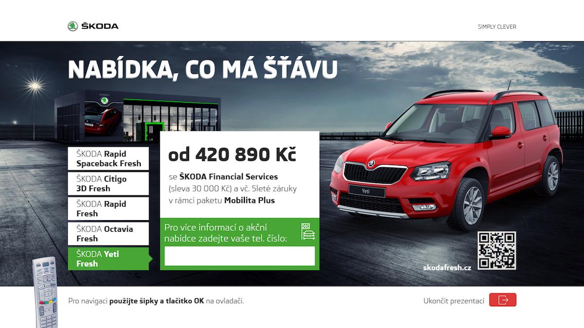 Prosincová kampaň automobilky Škoda v hybridním vysílání televize Prima