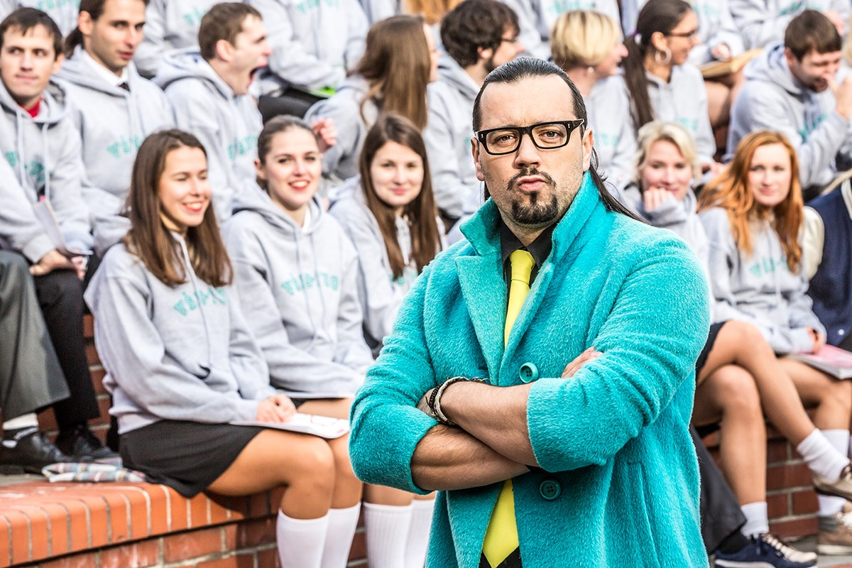 Michal Kavalčík alias Ruda z Ostravy alias docent Vlákno v kampani Technické univerzity v Ostravě