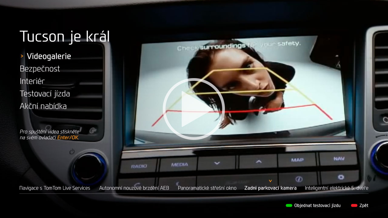 Kampaň Hyundai Tucson v HbbTV