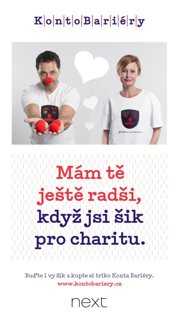 Martin Dejdar a Jitka Schneiderová se stali tvářemi aktuální kampaně na podporu Konta Bariéry