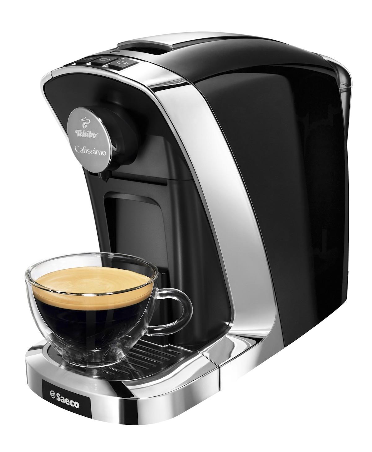 Nový kávovar Tuttocaffe má rozměry 15 na 26,5 na 36 centimetrů, vejde se do něj 0,7 litru vody, po 9 minutách se automaticky vypne