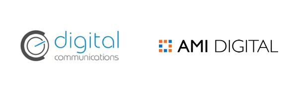 Vlevo dosavadní, vpravo nové logo digitální divize agentury AMI
