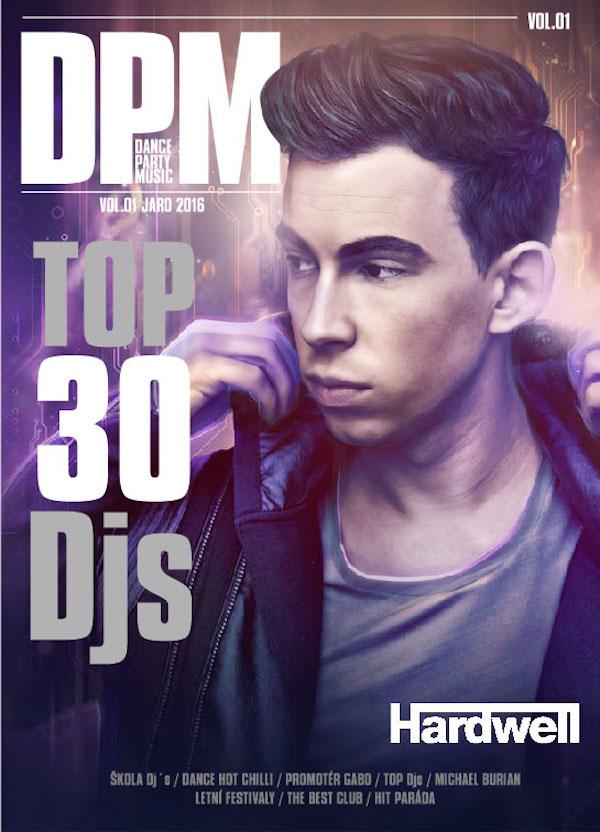 Pracovní podoba titulní strany chystaného časopisu Dance Party Music