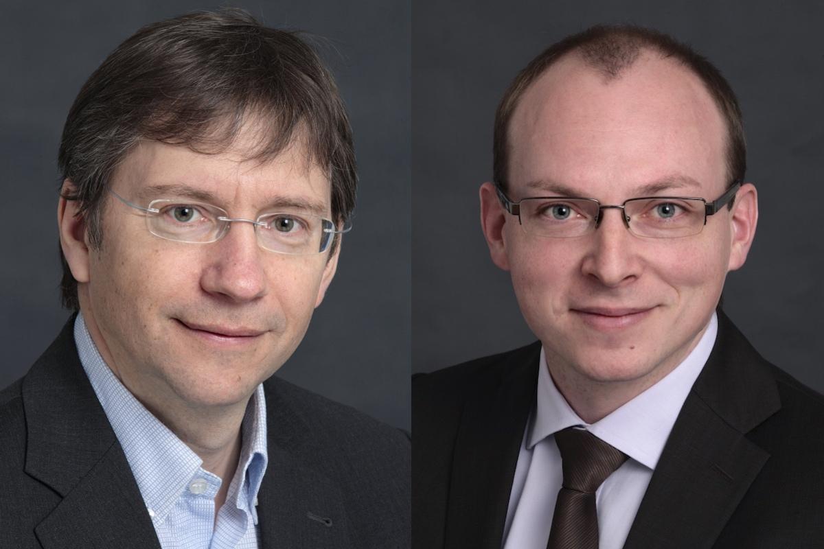 Vlevo Radek Jalůvka, vpravo Jakub Malý