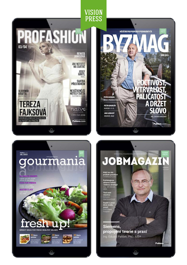Magazíny pod značkou Vision Press