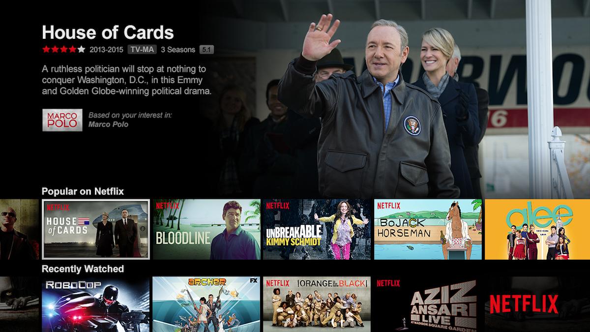 Svůj největší hit House of Cards Netflix do Česka nepustil