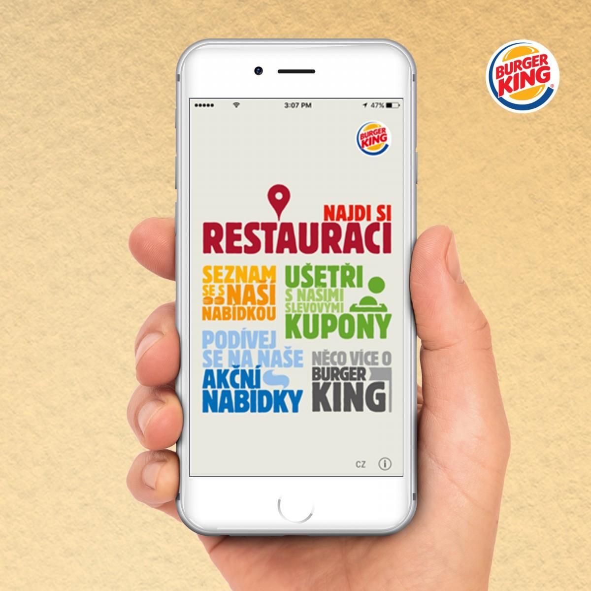 Burger King spouští novou aplikaci. Bude tak lepší konkurencí pro McDonald´s a KFC?
