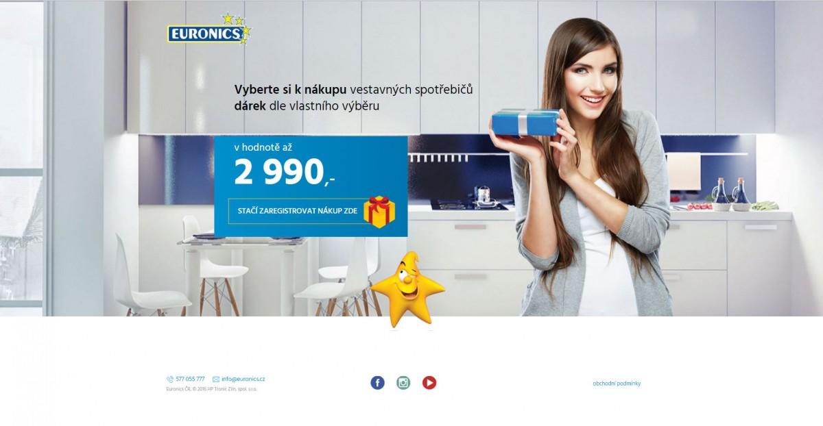 Kampaň Euronics se prodej vestavných spotřebičů