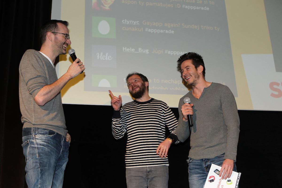 Uvolněná atmosféra s hlavním partnerem akce (David Semerád vlevo)