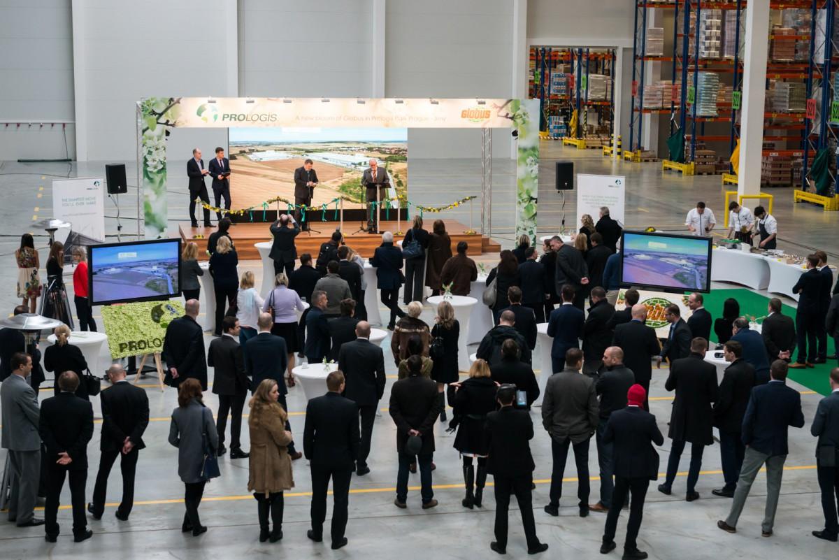 Jarně laděné otevření 32 500 metrů čtverečních průmyslové zóny Globusu