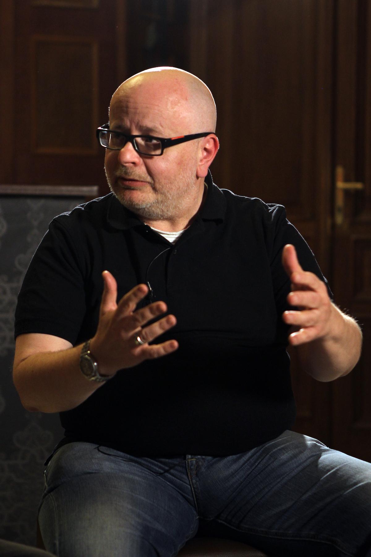 Vilém Rubeš na Schodišti Konektoru. Foto: Jakub Syrůček