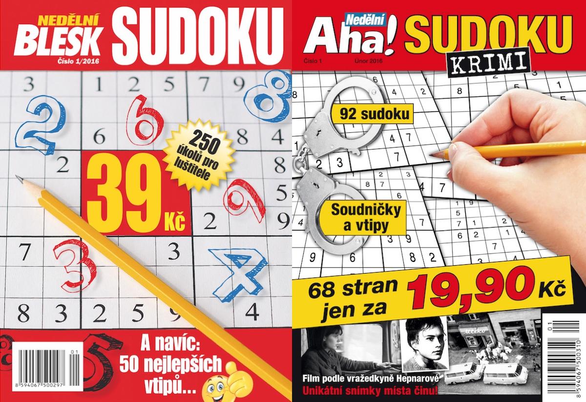 Speciály Blesk a Aha! se sudoku