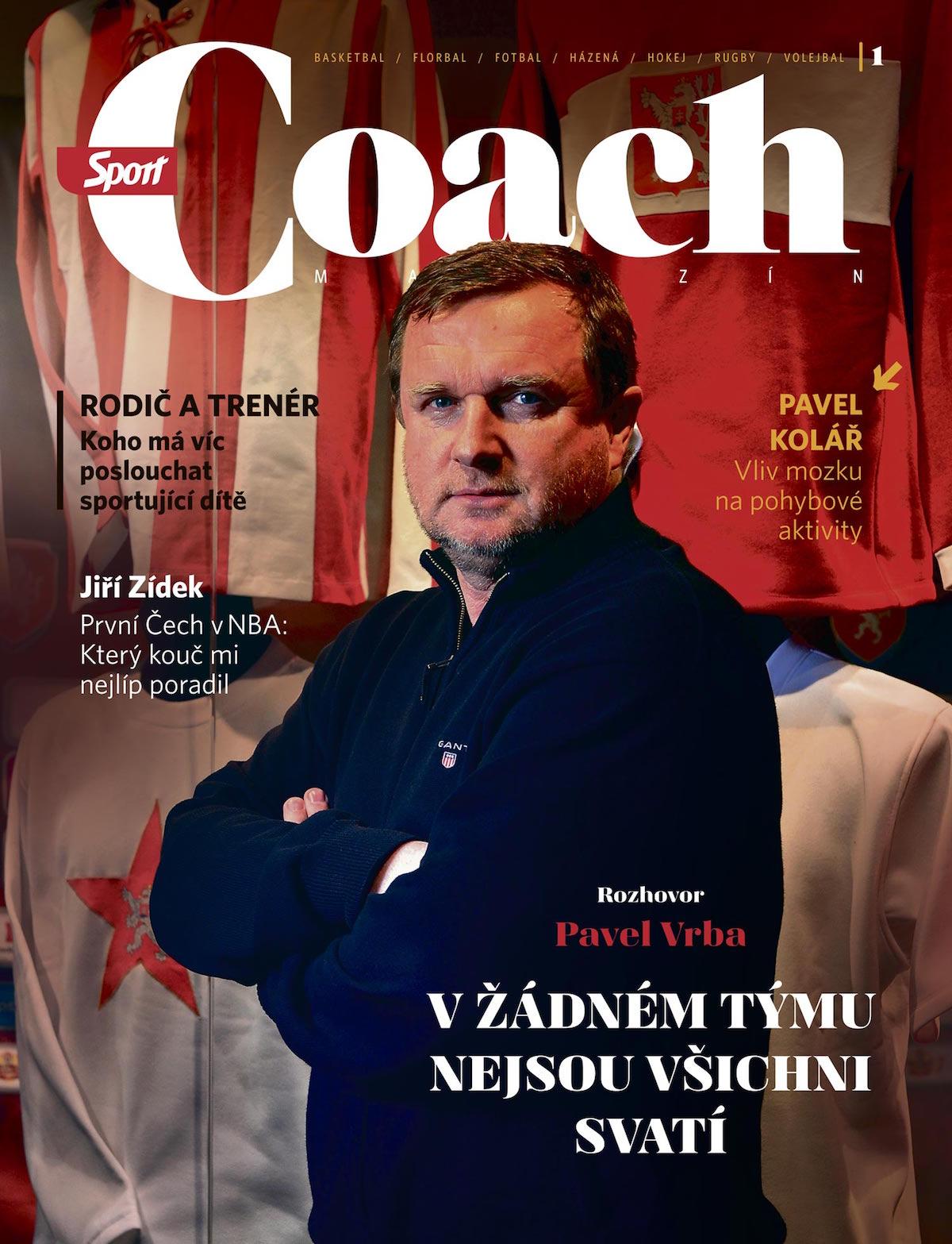 První číslo otvírá rozhovor s trenérem fotbalové reprezentace Pavlem Vrbou, vedl ho bývalý trenér volejbalové reprezentace Zdeněk Haník