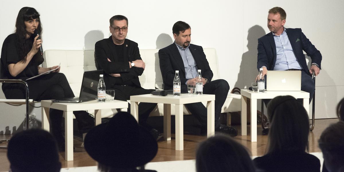Diskutéři Business Forward Fora (zleva) Radim Dvořák (Snaha), Tomáš Vacek (Pietro Filipi), Michael Tělecký (Tonak). Foto: Adam Křena