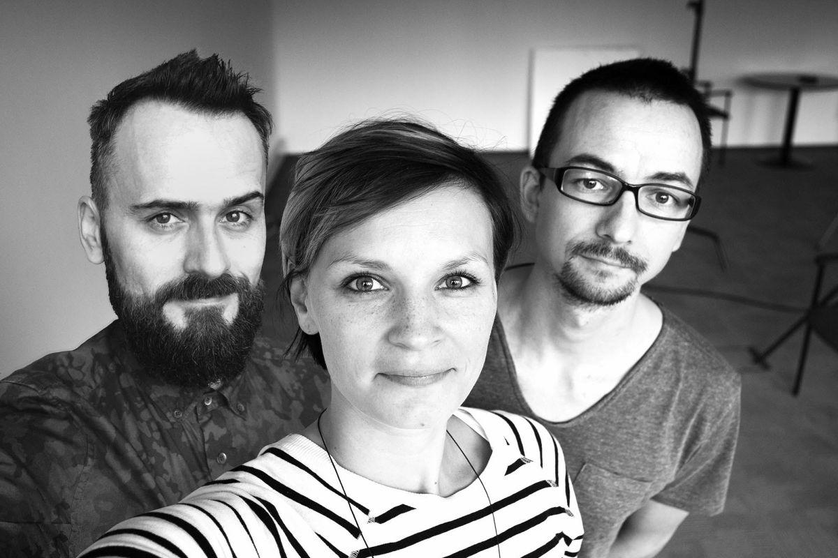 Zleva David Hanousek, Gabriela Dřevikovská a Zdeněk Zeman