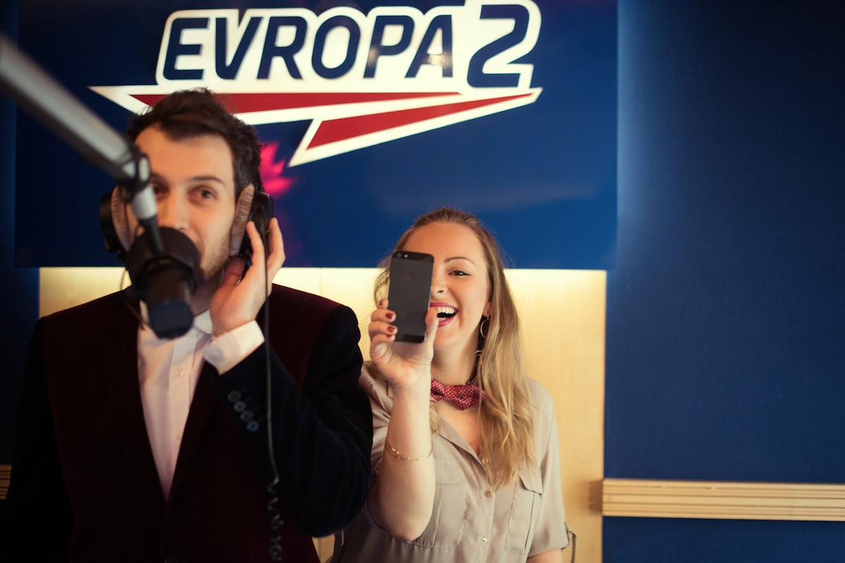 Moderátoři přímého přenosu Kateřina Říhová a Jindra Ekl. Foto: Evropa 2