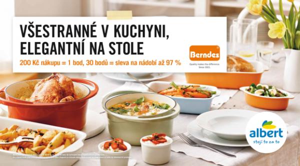 Sběratelská kampaň Albertu zaměřená na produkty Berndes