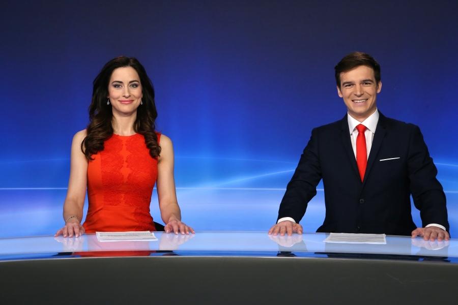 Alexandra Mynářová (za svobodna Nosková) a Petr Převrátil. Foto: TV Barrandov