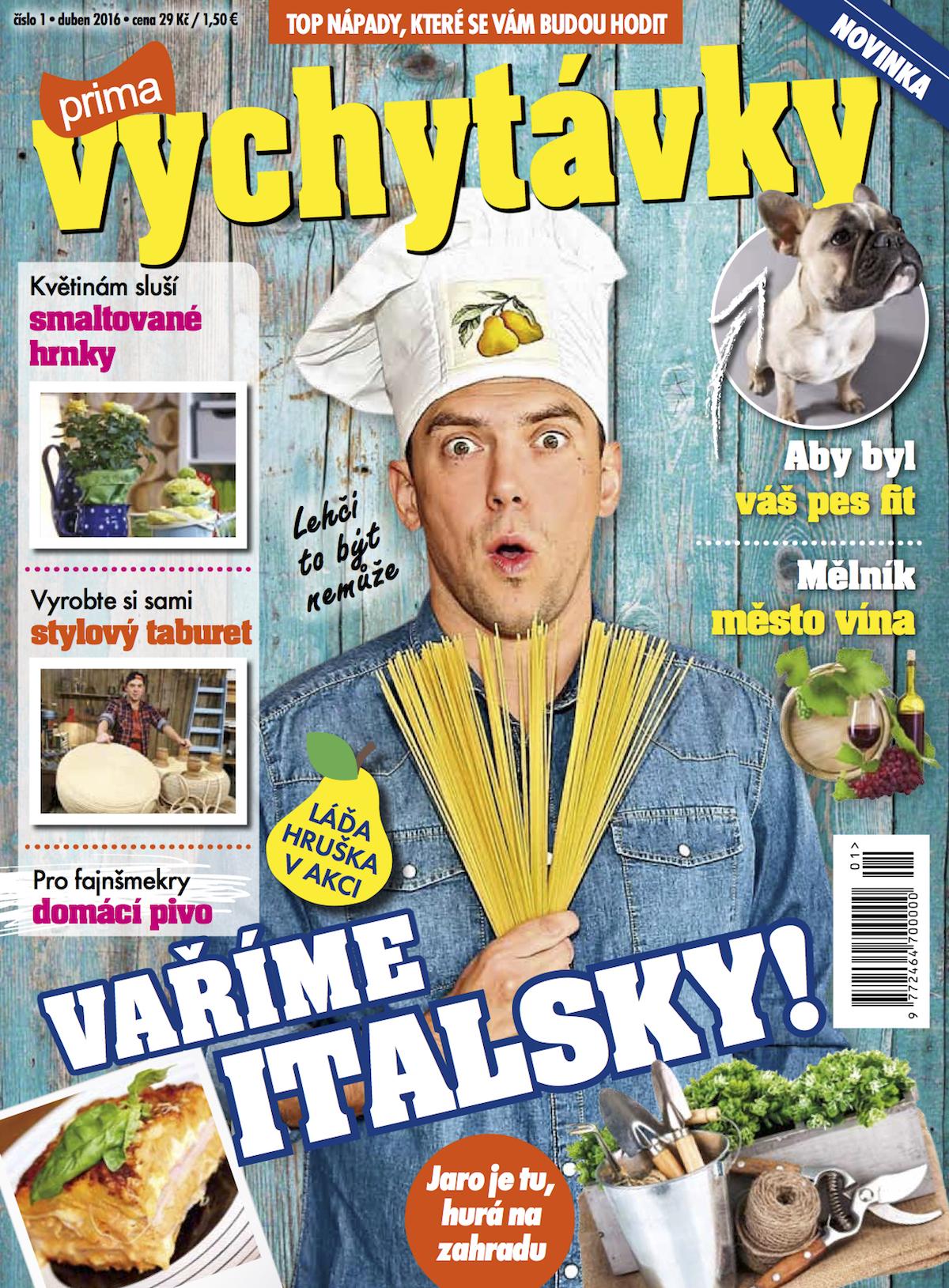 Titulní strana prvního vydýní měsíčníku Prima vychytávky