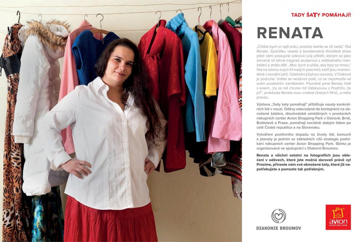 Renata, která využila oblečení z kontejnerů Diakonie Broumov.
