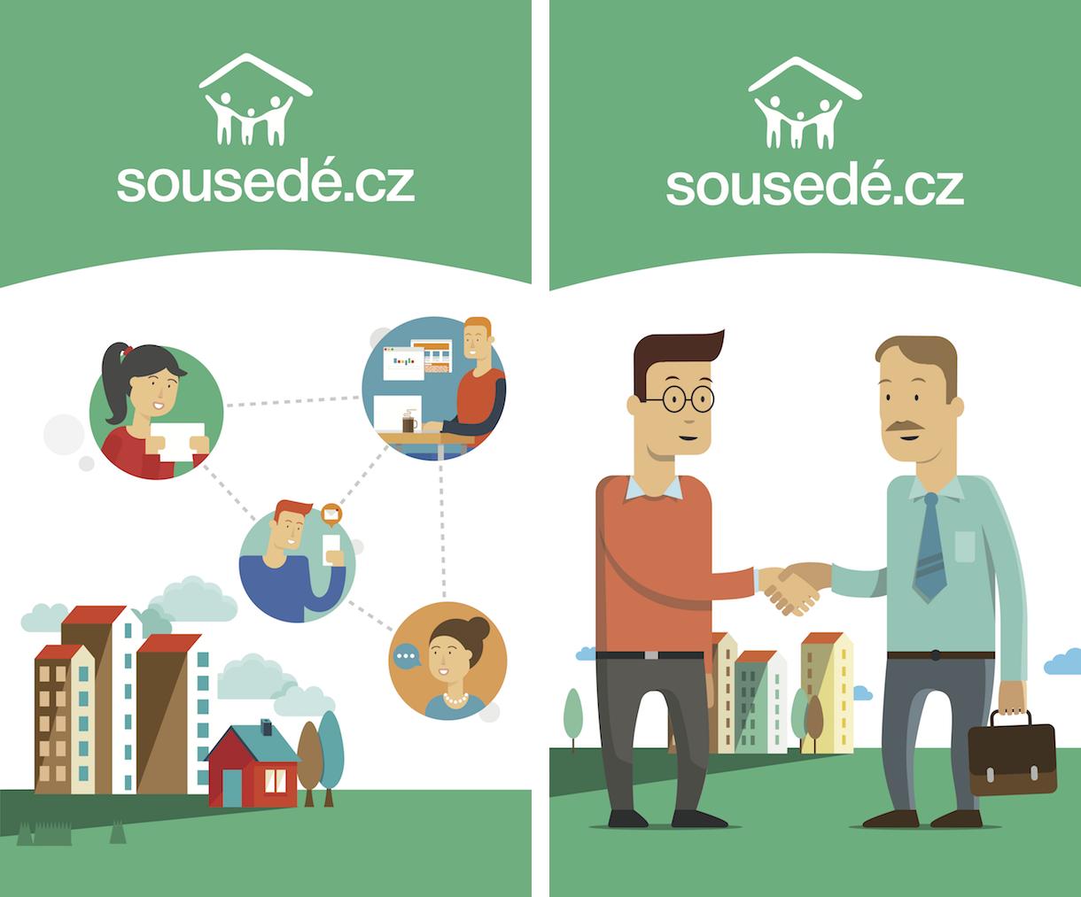 Nové logo a vizuální styl portálu Sousedé.cz