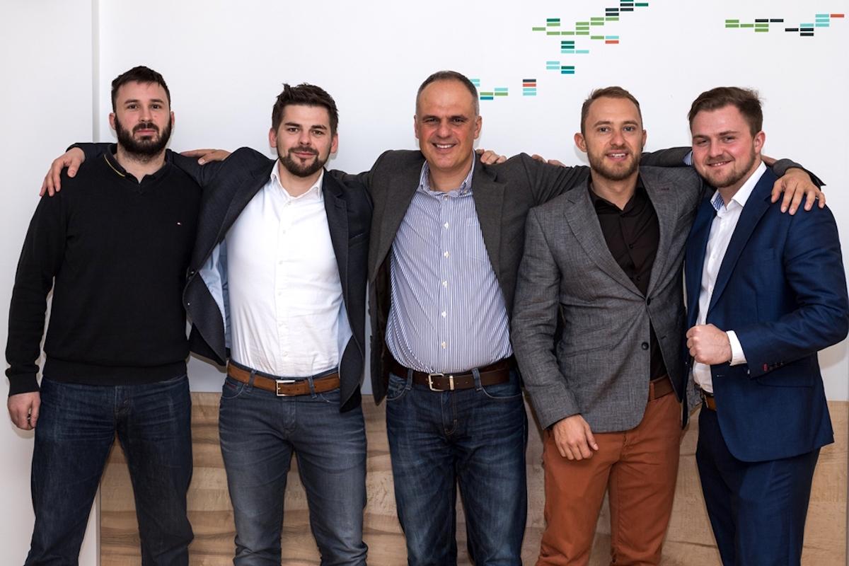 Zleva Ondřej Pavelek, Jan Galgonek, Petr Chajda, Pavel Flégl, Lukáš Hykl. Foto: Marek Zelenka
