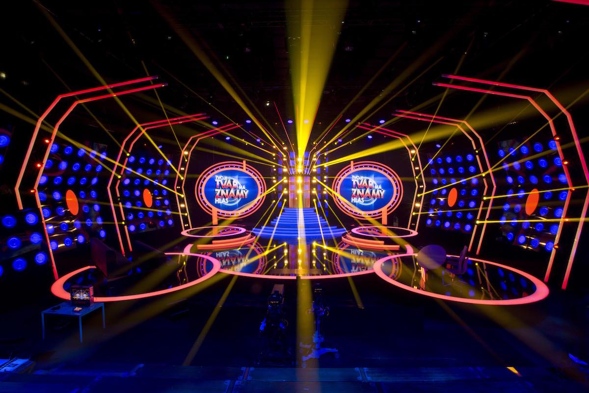 Scéna soutěžní show Tvoje tvář má známý hlas. Foto: TV Nova