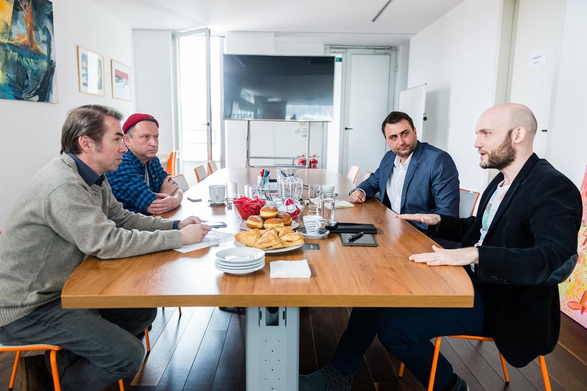 Zleva Jaroslav Krupka, Martin Charvát, Petr Lešek a Alexandr Kliment. Foto Vojta Herout