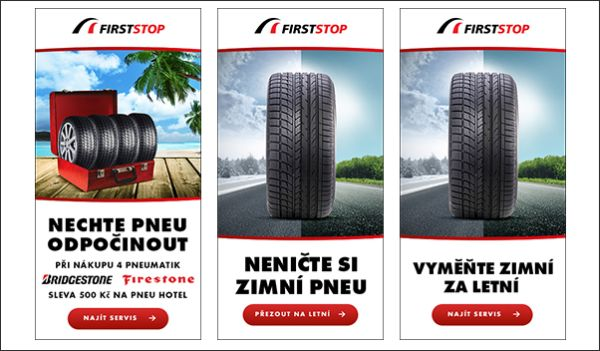 Bannerová kampaň upozorňuje na povinnou výměnu pneumatik