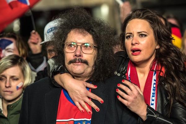 Jitka Čvančarová v kampani značky Krušovice