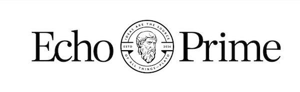 Logo Echo Prime cituje Platóna v angličtině