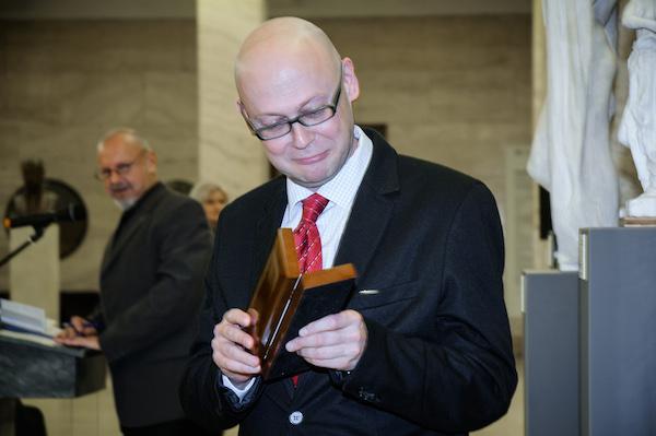 Jiří Peňás dostal v roce 2013 Cenu Ferdinanda Peroutky. Foto: Martina Votrubová