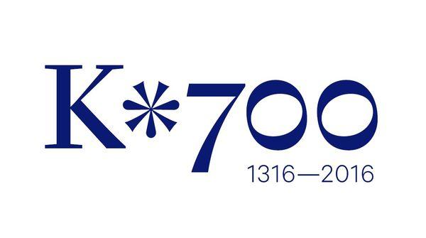 Logo oslav 700. výročí narození Karla IV. od Studia Najbrt