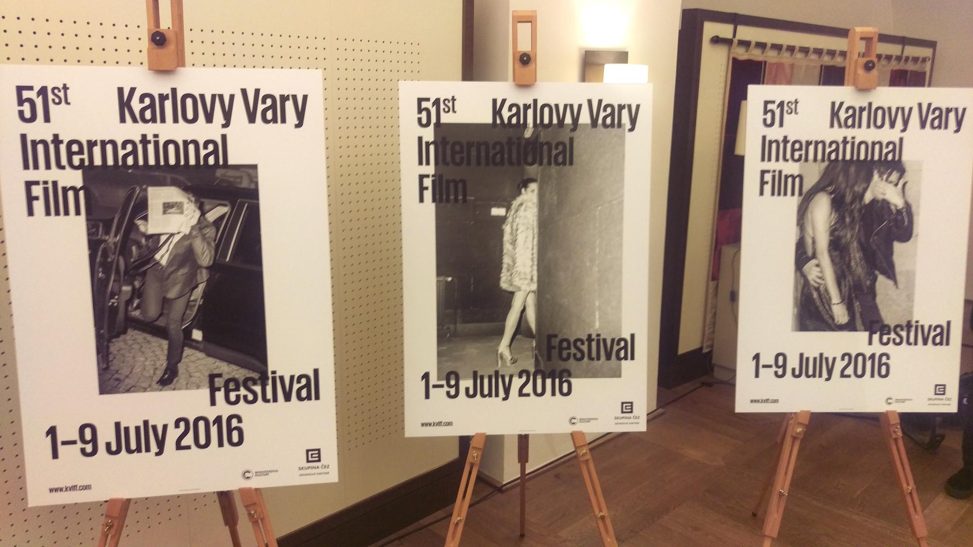 """Plakáty k 51. ročníku festivalu ve Varech jsou založeny na myšlence """"antiselfie"""""""