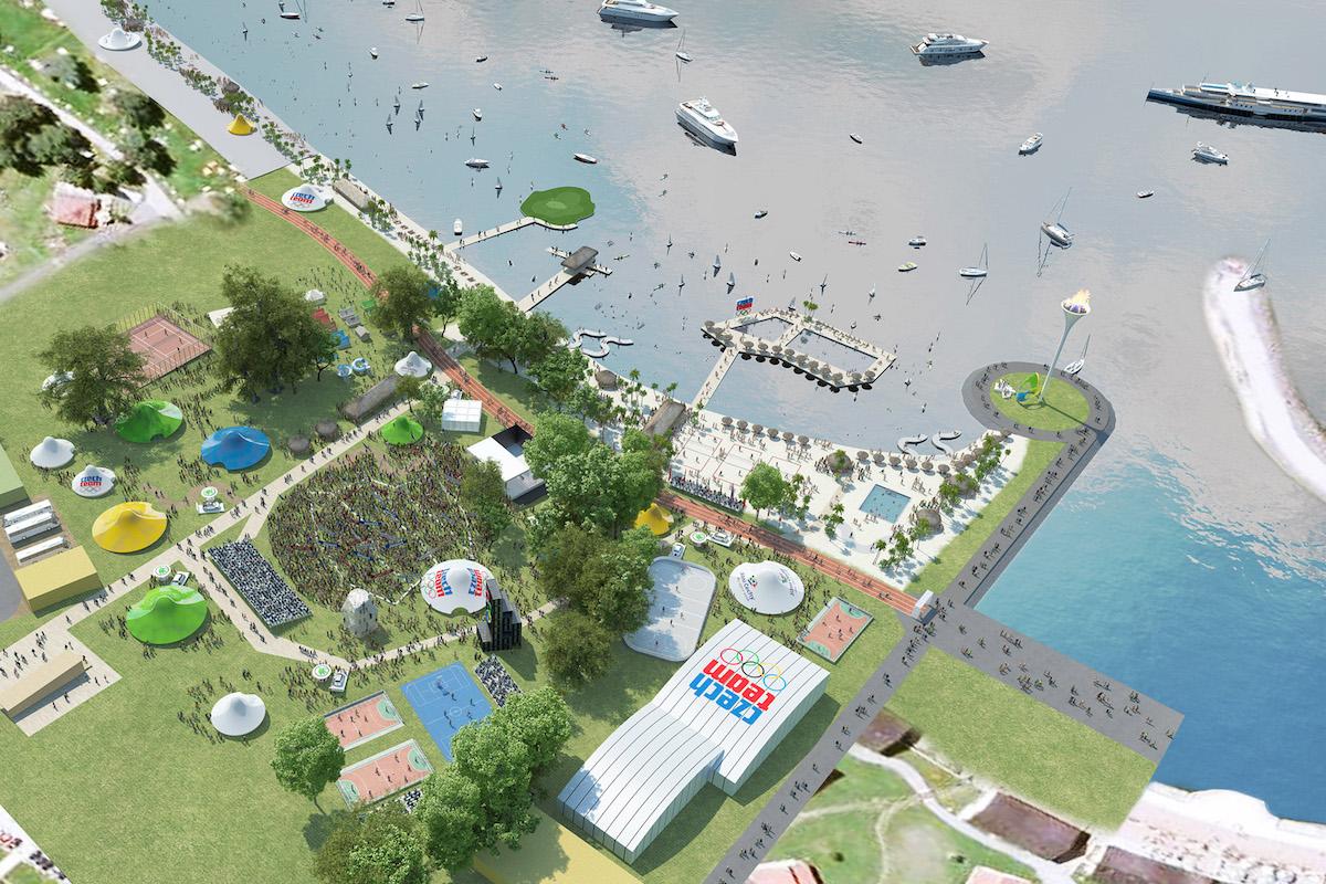 Vizualizace olympijského parku na Lipně. Repro: olympic.cz