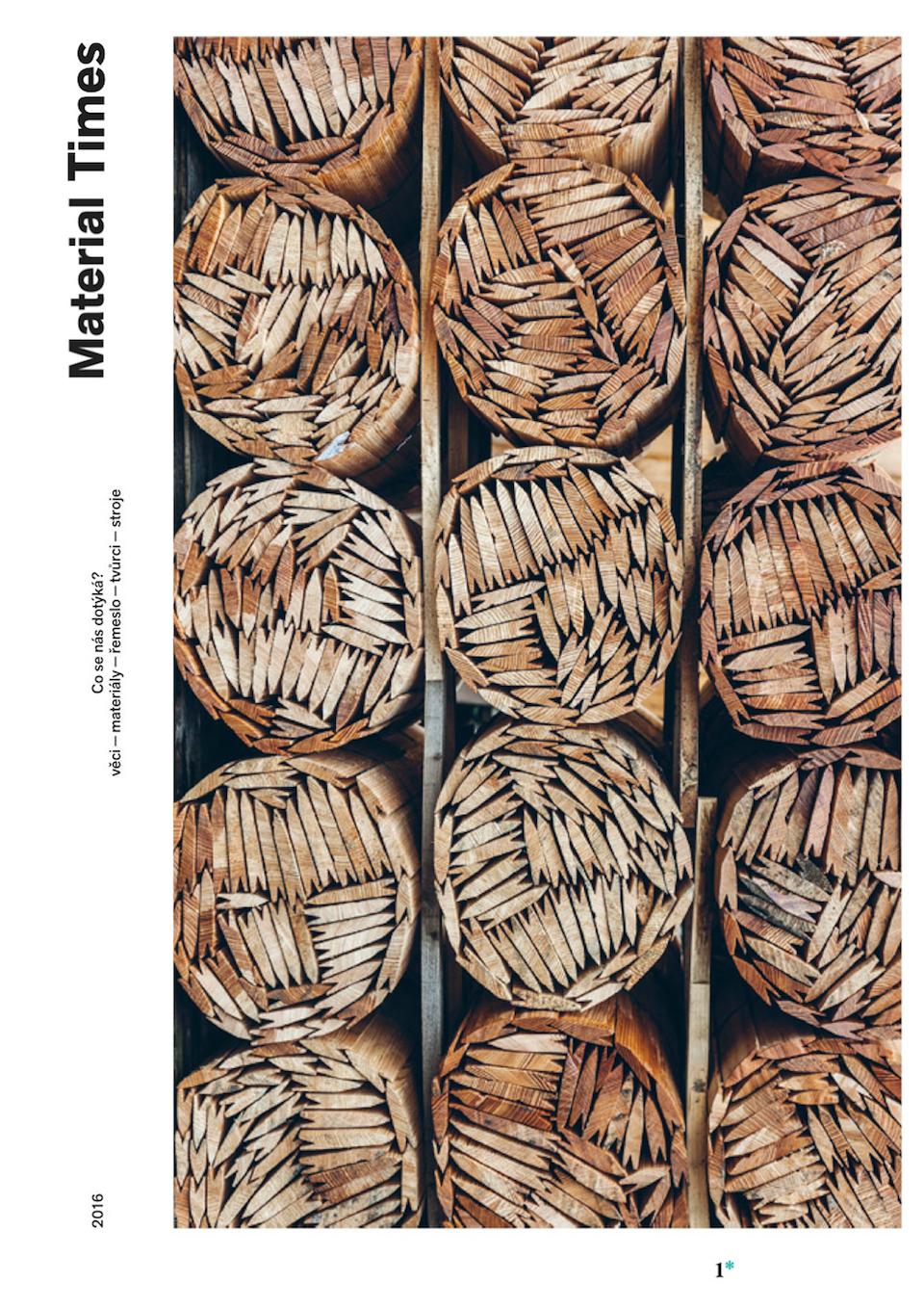 Titulní strana prvního tištěného čísla Material Times