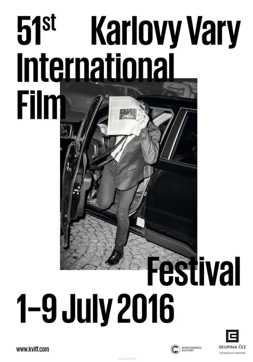 Jeden z plakátů k 51. ročníku festivalu ve Varech