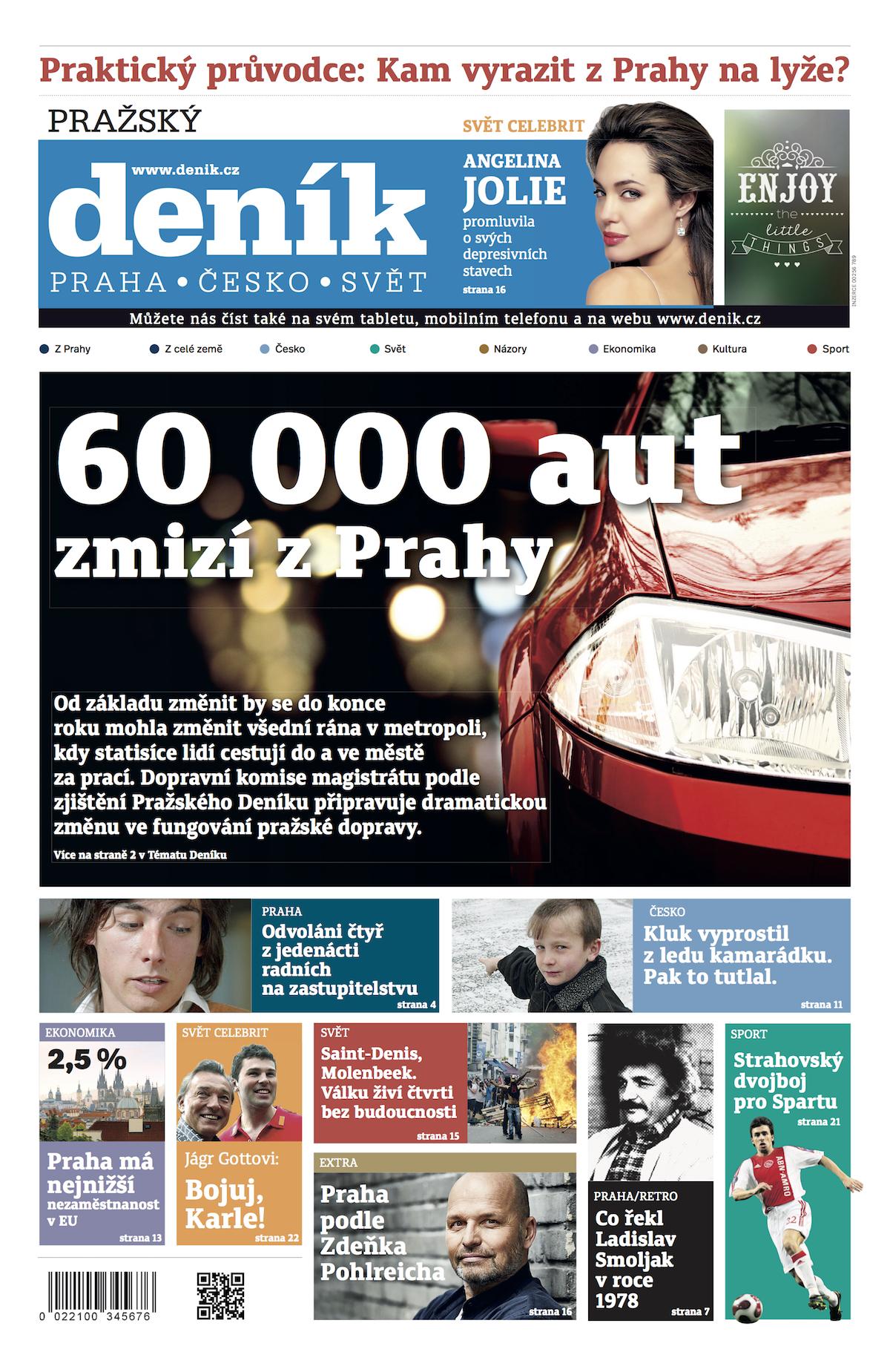 Maketa nová podoby Pražského deníku od Jiřího Buška