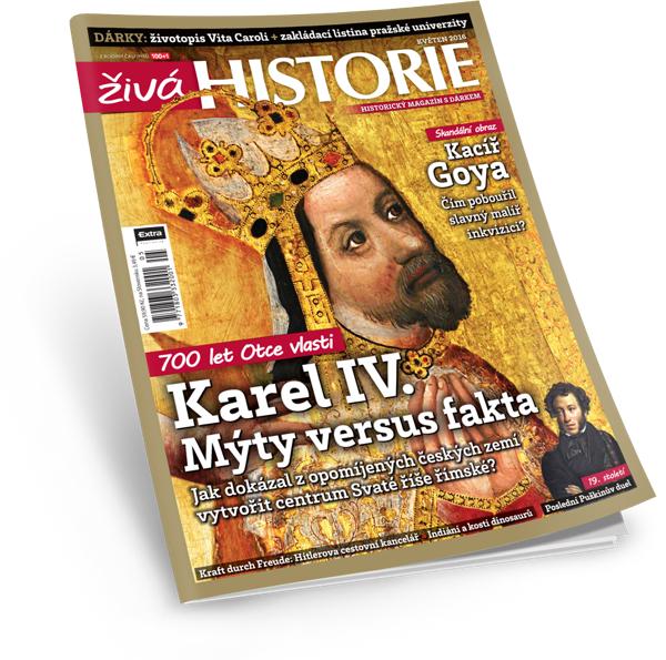 Karel IV. v časopisu Živá historie