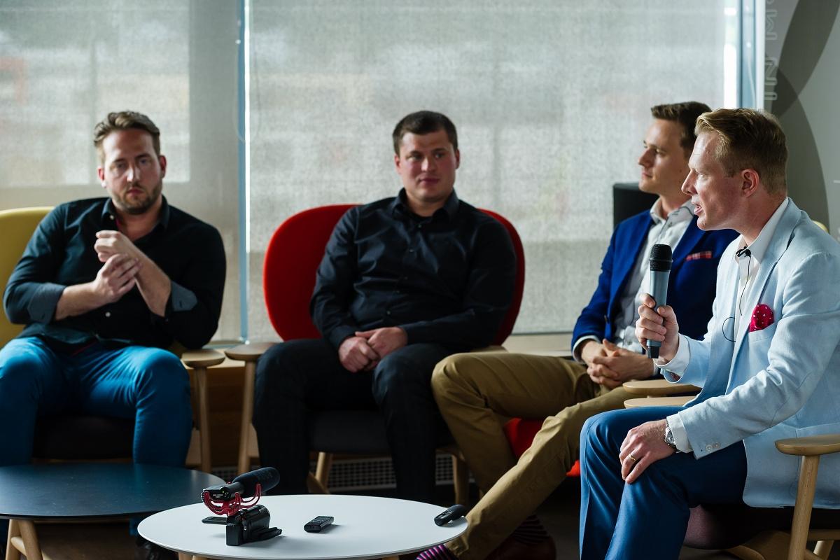 Zleva Jan Podhorný, Luděk Kremser, Jan Somol, Patrik Schober. Foto: Vojta Herout