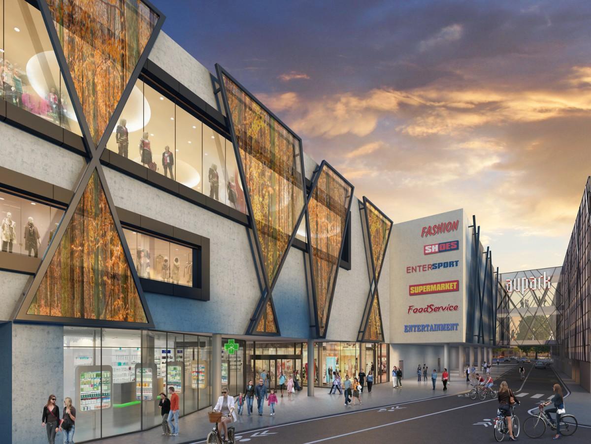 Vizualizace budoucího nákupního centra v Hradci Králové