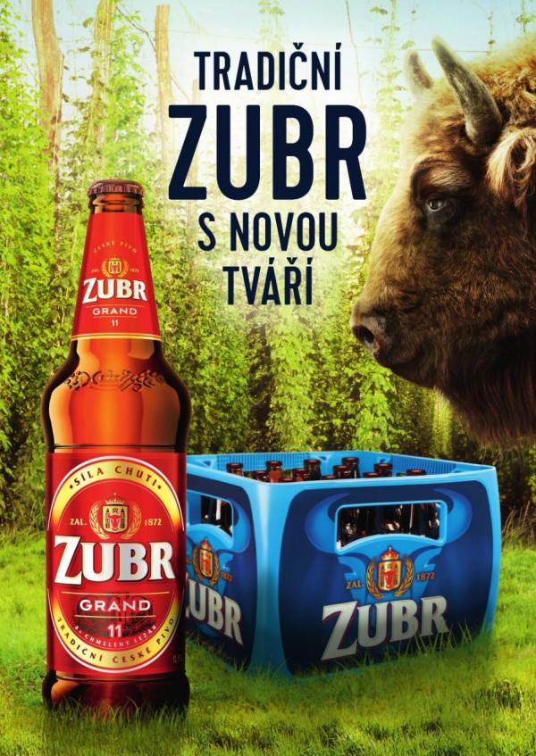 Nový design lahví a odlehčené přepravky na pivo Zubr