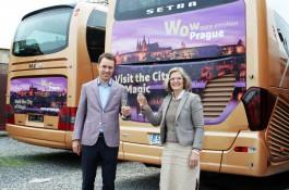 Praha se objeví na autobusech Vega Tour