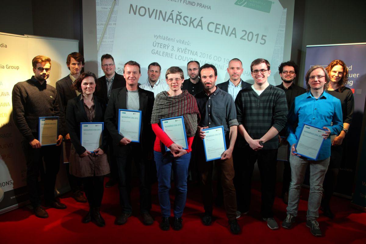 Laureáti Novinářské ceny 2015