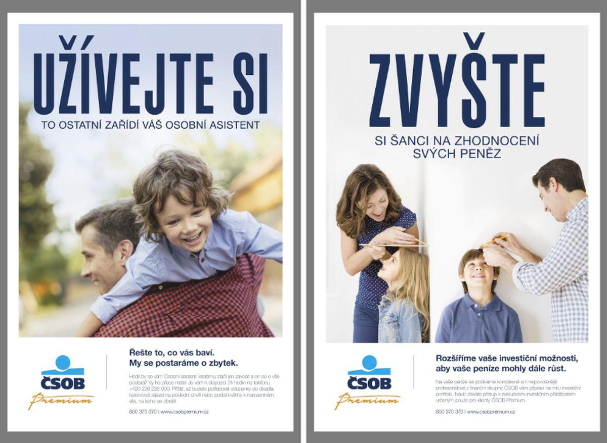 Novou službu ČSOB Premium propaguje kampaň na billboardech a CLV vitrínách ve větších městech, celkem jde zhruba o 300 ploch